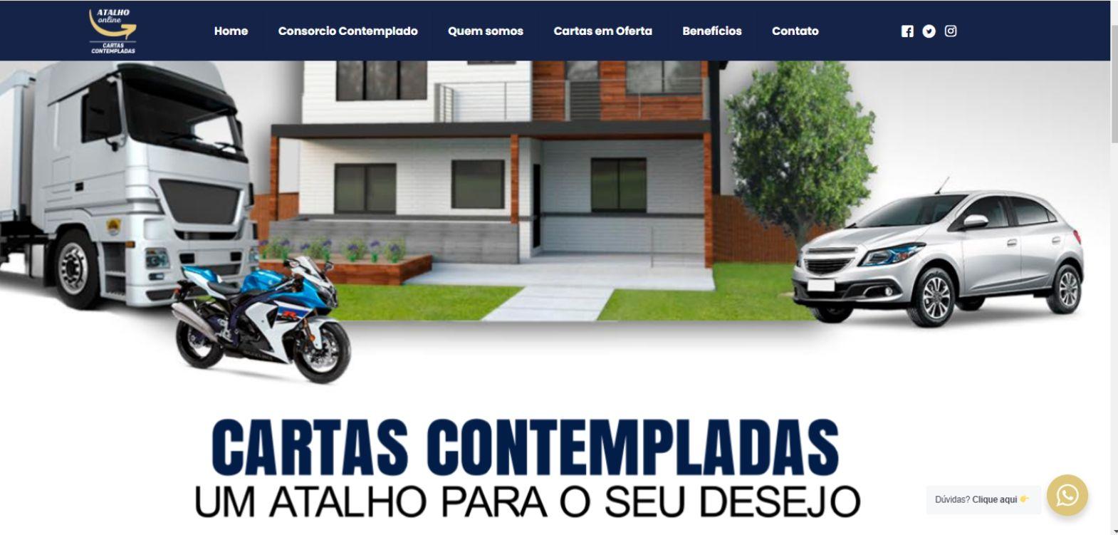 Site da Atalho.Online
