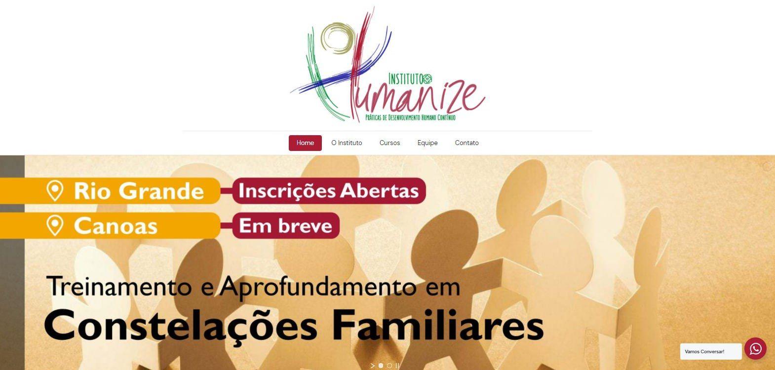 Site do Instituto Humanize