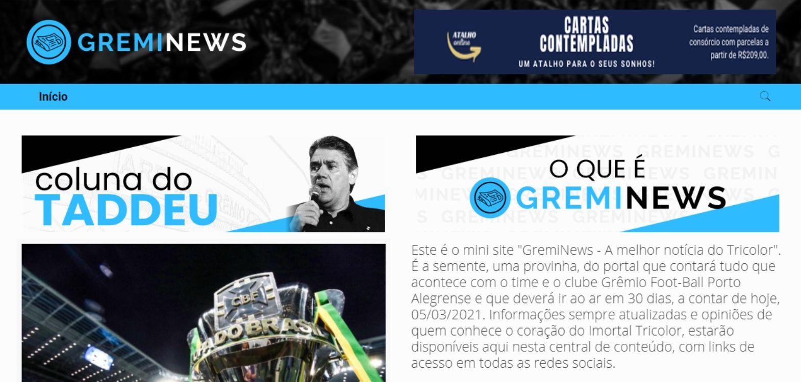 Site da Greminews